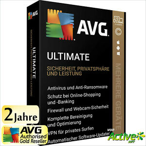 AVG ULTIMATE 2021 2 Jahre | PC, Mac, Android | TuneUp, Internet Security, VPN DE