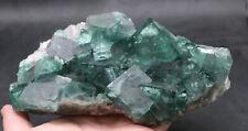 1634g NATURA Transparent Green Cube FLUORITE Mineral Specimen/China