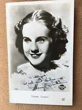 Deanna Durbin ( Autographe 0riginal)