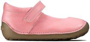 BNIB Clarks Toddler Girls Tiny Mist Pink Leather Shoes