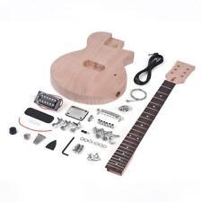 Unfinished Electric Guitar Diy Kit 6 String Style DIY Luthier Builder I9O4
