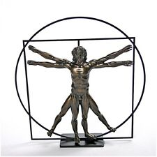 Vitruvian Universal Man Ideal Man Proportions Vitruvius Statue by DaVinci 8.5H
