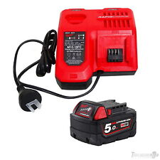GENUINE MILWAUKEE M12-18FC FAST BATTERY CHARGER NEXT GEN+M18B5 5.0AH BATTERY NEW