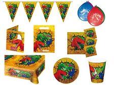 Art de la table de fête multicolores anniversaires-enfants dinosaures pour la maison