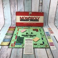 Waddingtons Monopoly 1960's - The Original Vintage Board Game Wooden Houses