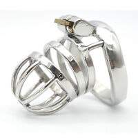 Male Chastity Device Stainless Steel Chastity Cage Lock Latest Design A275