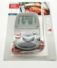 1470N TAYLOR Digital Cooking Thermometer/Timer, with metal probe for meat/food