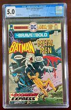 BRAVE AND THE BOLD #121 CGC 5.0 WP VG/FN (DC 1975) BATMAN & METAL MEN  🔑