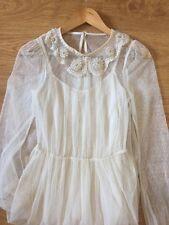 Beautiful Dress Size 8 Ivory Tulle Soft Feel Miss Selfridge Vintage Inspired