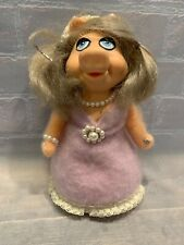 """MISS PIGGY Pin Cushion Vintage Muppets 7"""" Doll"""
