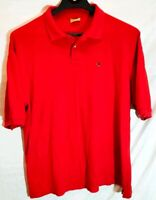 DUCK HEAD MEN'S RED SHORT SLEEVE COTTON POLO SHIRT SIZE LARGE