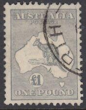 AUSTRALIA :1935 £1 grey  die IIB SG137  fine used