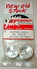 3 Spoke Wheels 1960's Vintage Dynamic 1 Pr Aluminum #631 NOS 5:40 Slot Car 1/24