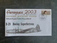 2003 AEROPEX B-29 BOEING SUPERFORTRESS COVER WITH COUNTER PRINTED STAMP