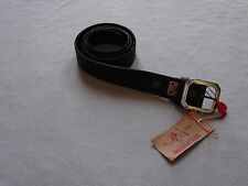 TRUE RELIGION BRAND MENS VINTAGE WEATHERED BASIC BLACK LEATHER BELT SIZE 40 NEW
