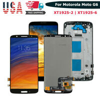 For Motorola Moto G6 XT1925-2 -6 Lcd Touch Screen Digitizer Assembly + Frame