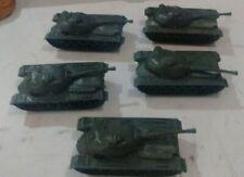 ZX429 Toy TANKS for Plastic Army Men: Green WW2 5pc Patton tank lot