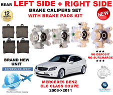 FOR MERCEDES BENZ CLC CLASS 2008->2011 REAR LEFT + RIGHT BRAKE CALIPER + PADS