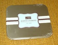 Stampin' Up | *NEW* ACCENTS & ELEMENTS Die Cuts Self Stick Storage Tin/Box