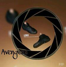 1/6 Hot Toys Loki Avengers Pair of Black Boots MMS176 **US Seller**