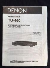 Denon TU-460 Tuner Original Owners Manual tu460 A17