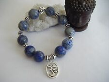 Bracciale unisex spirituale Mala Buddha Lapislazzuli 3rd Eye Yoga ECO PROTETTIVA