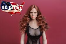 1/6 Scarlett Johansson 7.0 Black widow Head Sculpt For Phicen Hot Toy Figure USA