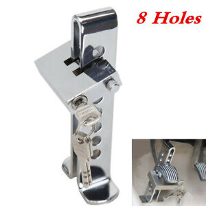 Brake Pedal Lock Security Car 8 Hole Stainless Steel Clutch Lock Anti Theft Tool