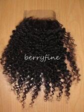 "8""-24"" Virgin Mongolian Kinky Curl/Curly Human Hair Lace or Silk Top Closure"