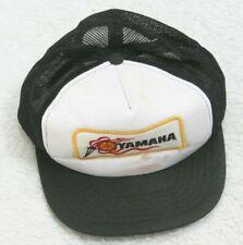 Yamaha Vintage Baseball Hat Cap White Black Adjustable Snapback One Size Fit All
