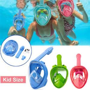 Kids Snorkel Mask Full Face Swimming Scuba Anti-Fog Diving Goggle Mask