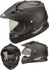 L Large Fly Trekker Dual Sport Adventure Motorbike Helmet Matt Black RRP$199.95