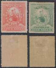 PERU 1899 LIBERTY Sc 158-159 Yvert 124-125 FULL SET HINGED MINT RARE! SCV$852.75
