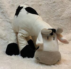 Rare Jellycat Cow Plush Stuffed Animal 2000 Velvet & Cotton Canvas