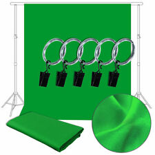 NEW 10 x 10 Ft Green Muslin Backdrop Photo Studio Photography Background w/Clip