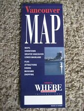 Map of Vancouver, BC, Canada, by WHERE MAGAZINES, 1990'S?