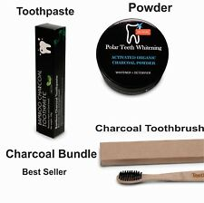 Charcoal Toothpaste + Charcoal Powder + Bamboo Charcoal Infused Toothbrush Kit