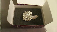 """Beautiful Lia Sophia """"Catch the Bouquet"""" or """"Forget Me Not"""" Size 10 Ring NIBWT"""