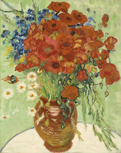 Vincent Van Gogh Still Life Vase With Daisies And Poppies Canvas 16 x 20 #7431