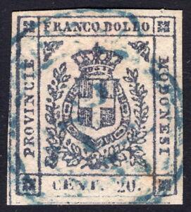 MODENA Governo Provvisorio c.20 nero violaceo (15b) usato