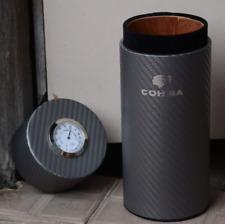 COHIBA Travel Cigar Case Carbon Fiber and Cedar Mini Humidor