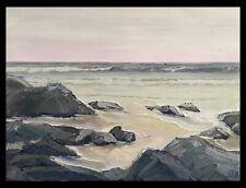 """PACIFIC Original Seascape Ocean Surf Impression Oil Painting 18x24"""" 041120 KEN"""