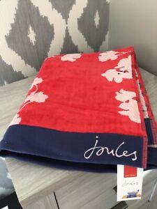 Joules Penzance Floral Bath Towel Red