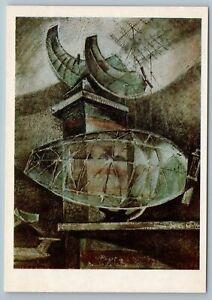 1980 AIRFIELD LOCATORS air surveillance airport AVIA Soviet USSR Postcard