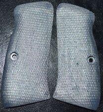 CZ 97 97B pistol grips silver checker pattern plastic
