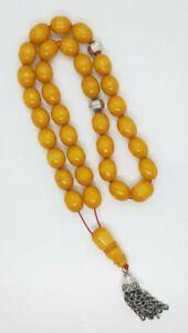 148.8 Grams Bakelite Sandalous Beads Rosary/Tesbih.