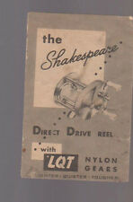 Shakespeare Direct Drive Real with LQT Nylon Gears Brochure 1950s