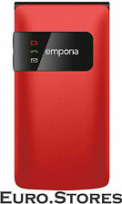 Emporia Flip Basic F220 Red Cell Phone Emergency Call Function Genuine New
