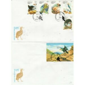Laos 1994 Series Fauna Prehistoric Animals 5 Val + Bf Su 2 Envelopes FDC MF71233