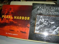 2 HB BOOKS Pearl Harbor Willmott 100 GREATEST MILITARY PHOTOGRAPHS Dalessandro